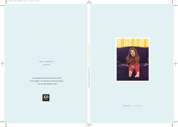 kb home 2000 annual report