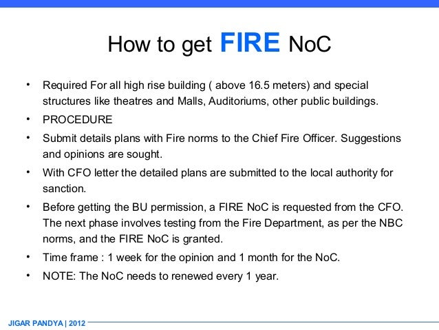 Permissions projects jigar pandya 2012 18 how to get fire noc spiritdancerdesigns Gallery