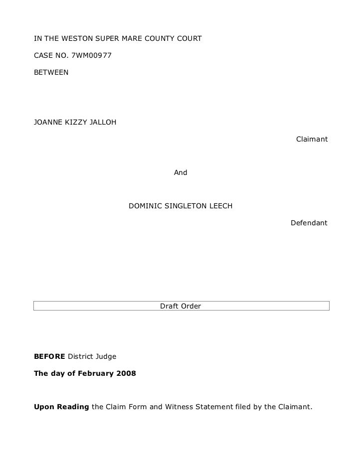 Draft Order (MJK)
