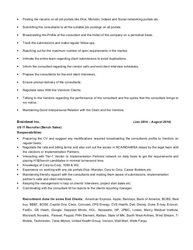 Resume Sample  Example of Business Analyst Resume Targeted to the     INPIEQ