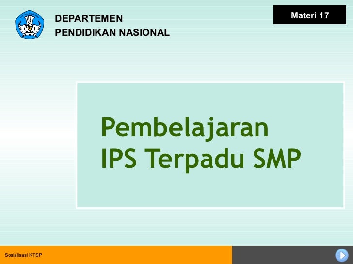 Pembelajaran Ips Terpadu Smp