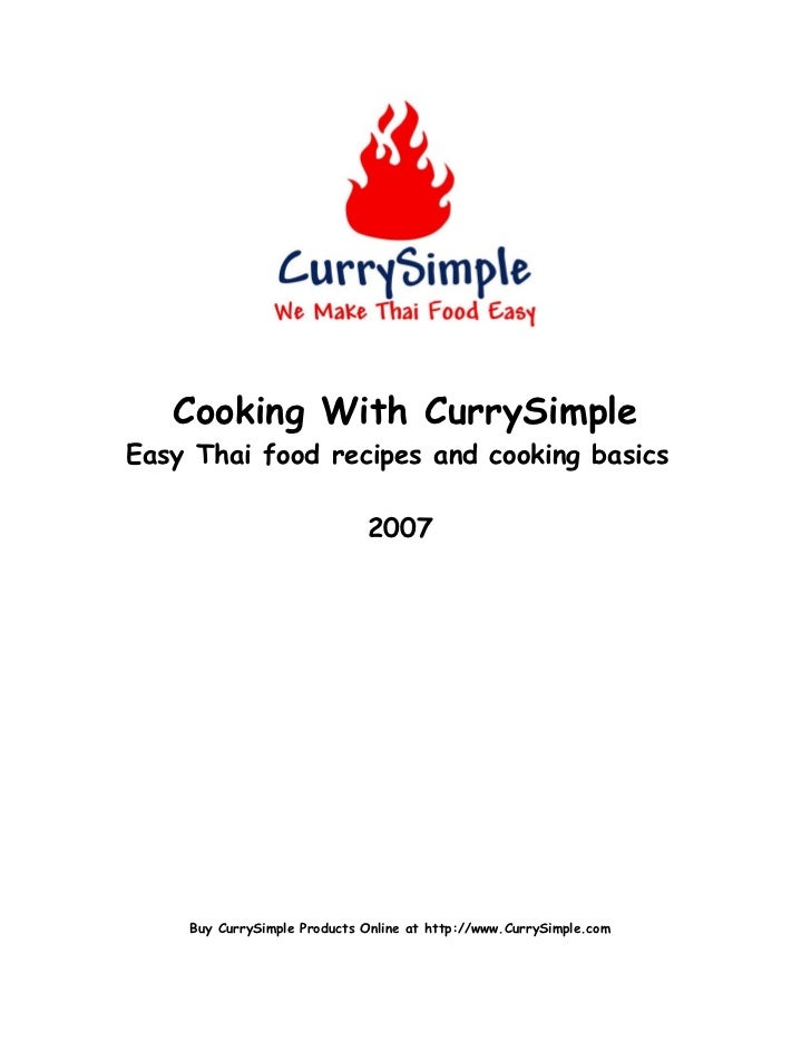 Cooking With CurrySimpleEasy Thai food recipes and cooking basics                             2007    Buy CurrySimple Prod...