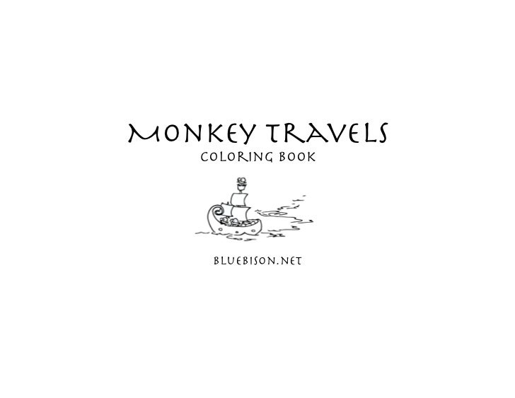 Monkey travels   Coloring Book    bluebison.net