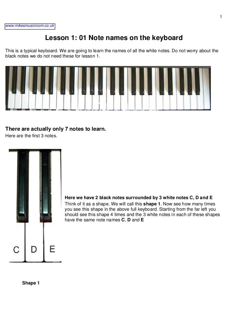 Learn To Play The Piano Slide 3