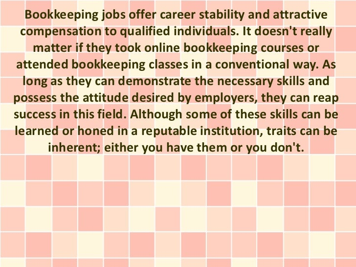 The Best Candidates For Bookkeeping Certificate Courses And Bookkeepi