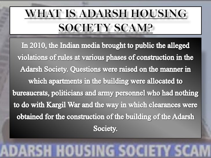 adarsh housing society scam Adarsh housing society scam news - check out the latest news on adarsh housing society scam get breaking news updates on adarsh housing society scam and published at daily news & analysis.