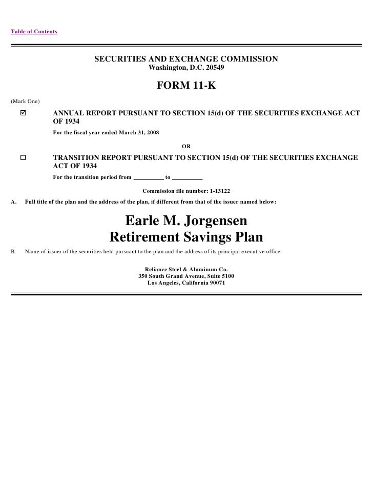 Table of Contents                                      SECURITIES AND EXCHANGE COMMISSION                                 ...