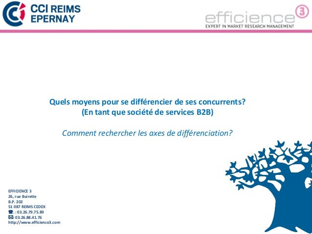 1EFFICIENCE 326, rue BuiretteB.P. 20251 087 REIMS CEDEX. : 03.26.79.75.89: 03.26.88.41.76http://www.efficience3.comQuels...