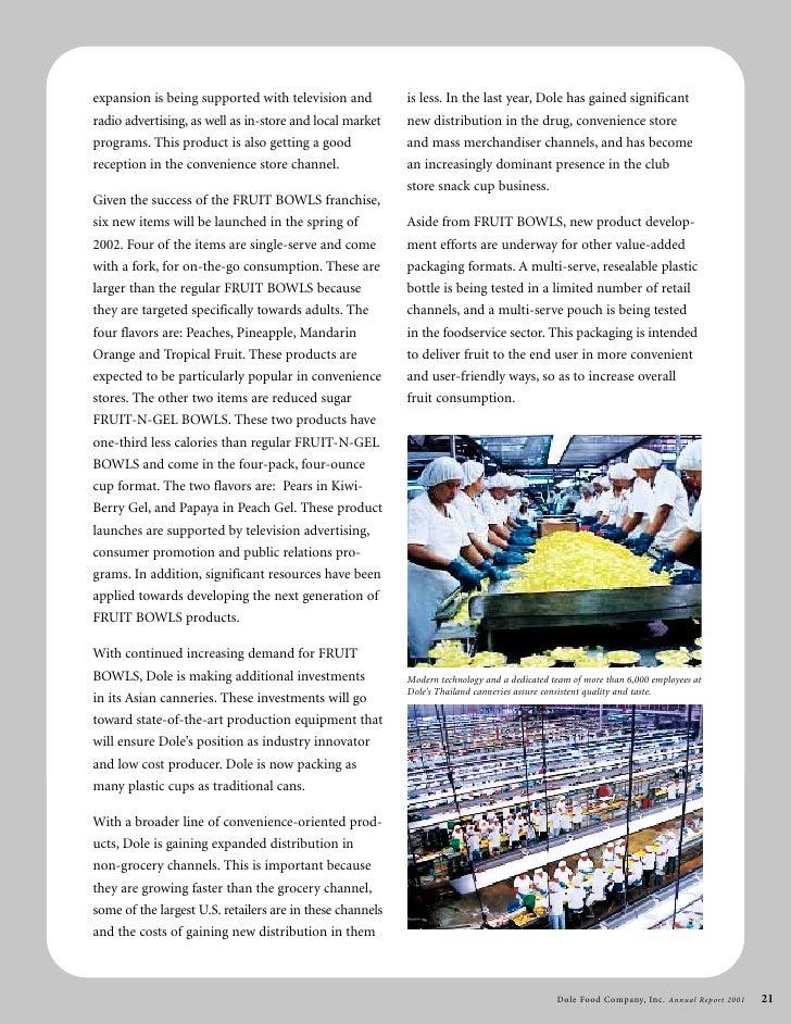 Dole Food Company Inc Annual Report