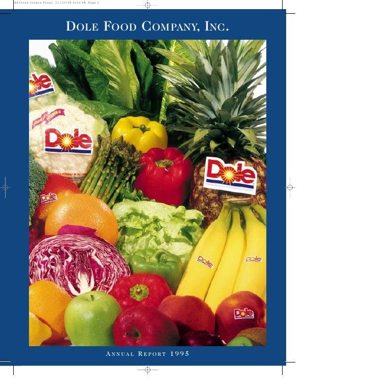 DOLE FOOD COMPANY, INC.          ANNUAL REPORT 1995