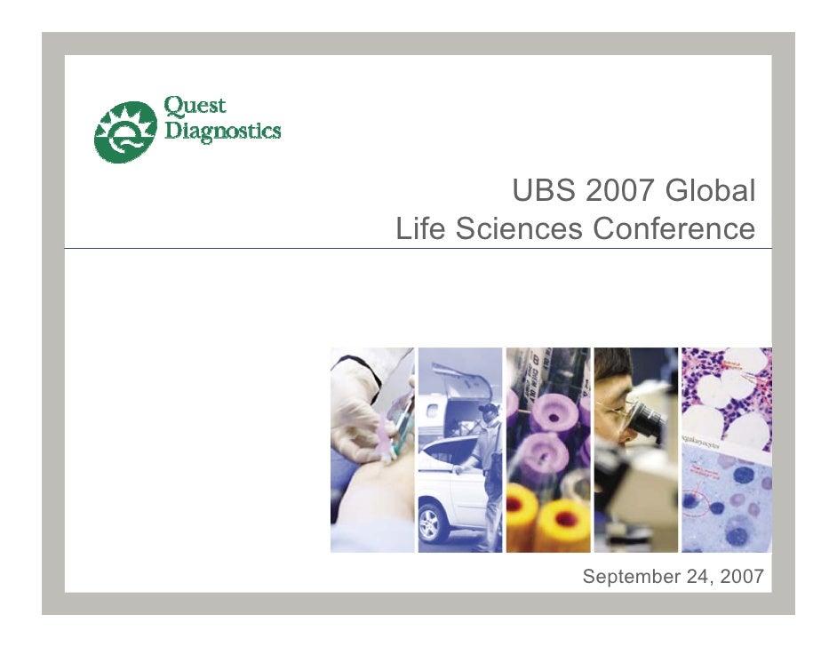UBS 2007 Global Life Sciences Conference                 September 24, 2007
