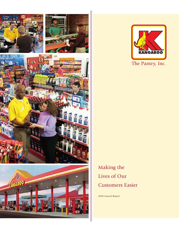 The Pantry, Inc.     Making the Lives of Our Customers Easier 2008 Annual Report