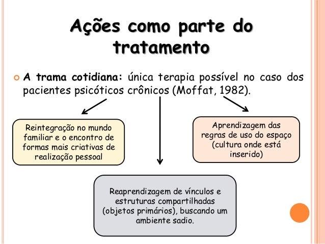 Ações como parte do tratamento  A trama cotidiana: única terapia possível no caso dos pacientes psicóticos crônicos (Moff...
