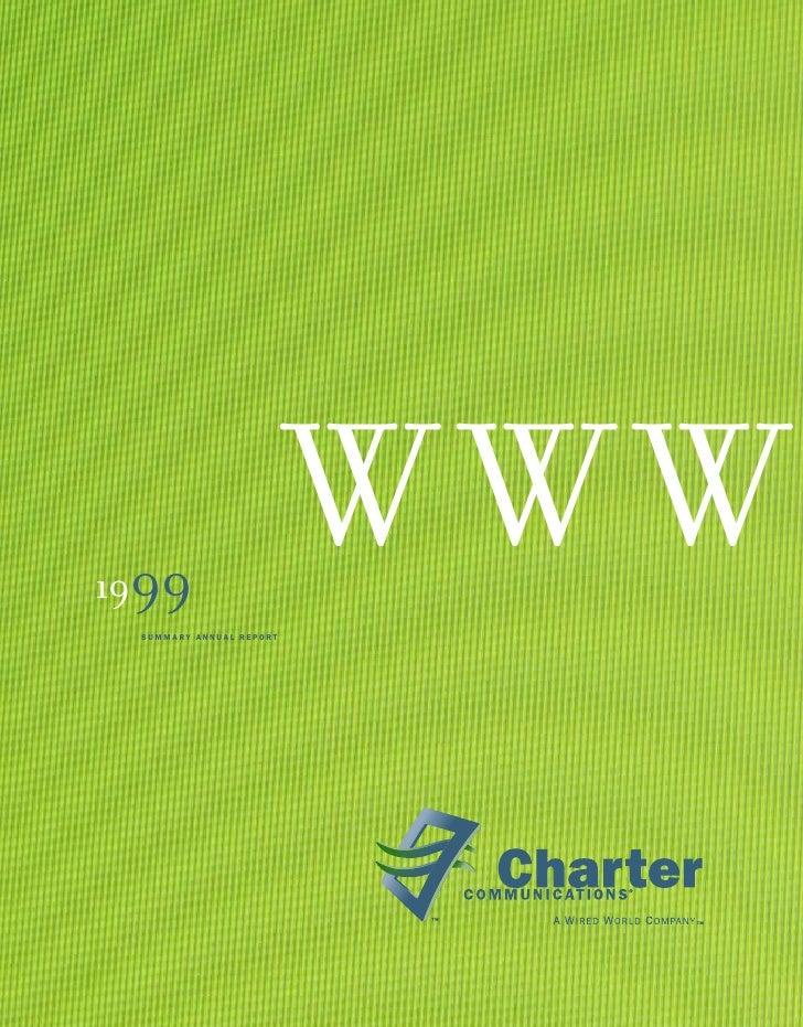 WWW 1999  SUMMARY ANNUAL REPORT