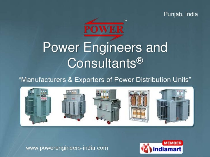 "Punjab, India       Power Engineers and          Consultants®""Manufacturers & Exporters of Power Distribution Units"""