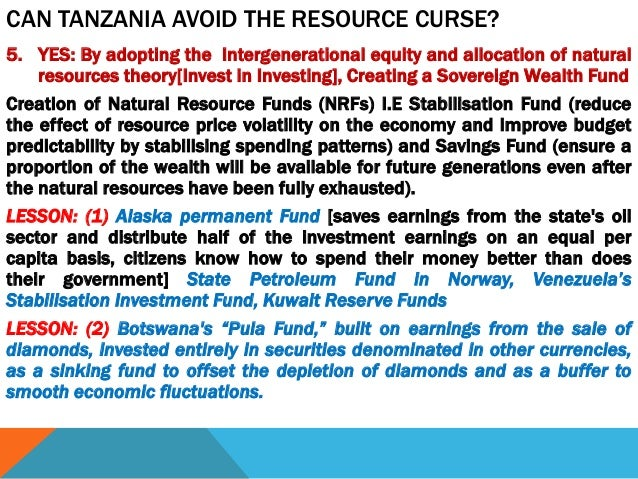 Natural Resource Curse Theory