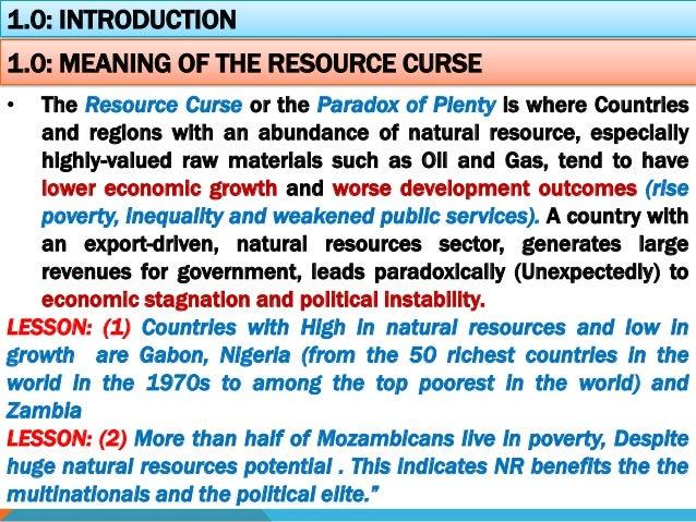 Natural Resource Curse In Nigeria