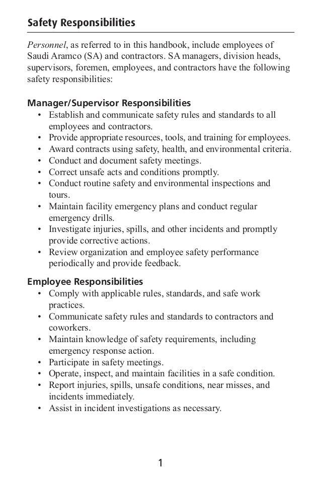 safety handbook saudi aramco by muhammad fahad ansari 12ieem14 rh slideshare net Warehouse Worker Safety Warehouse PPE