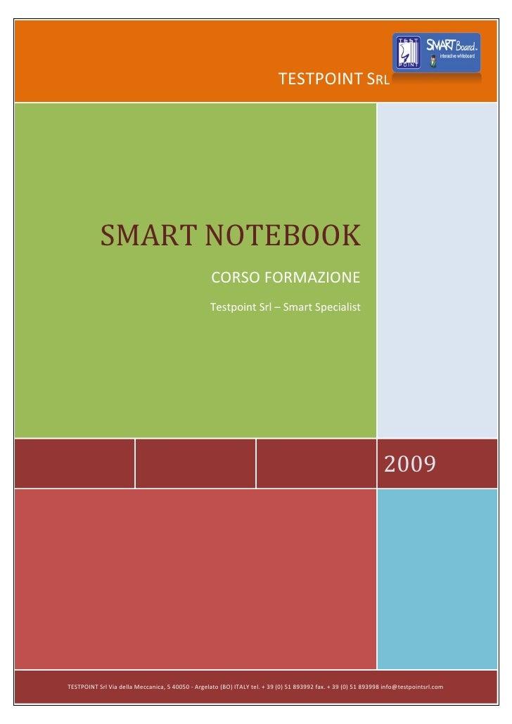 TESTPOINT SRL                SMART NOTEBOOK                                                    CORSO FORMAZIONE           ...