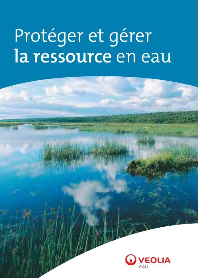 Protéger et gérer la ressource en eau