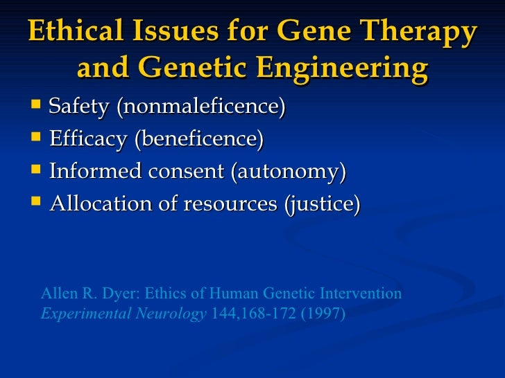 an examination of the notion of genetic engineering Genetic determinism and gene therapy in gattaca genetic engineering represents to the notion of genetic an examination of.
