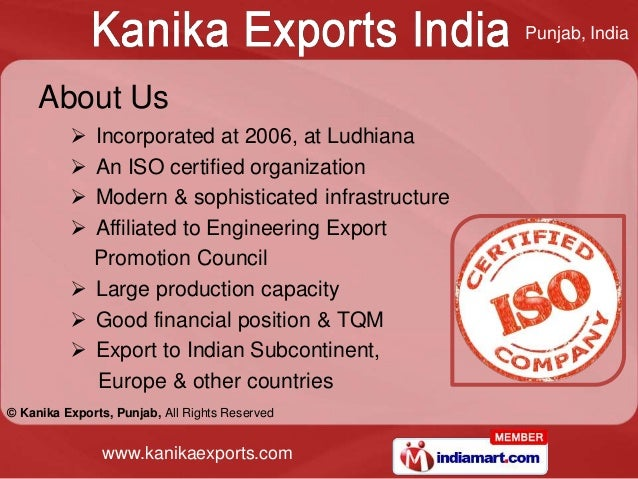 Punjab, India     About Us           Incorporated at 2006, at Ludhiana           An ISO certified organization          ...