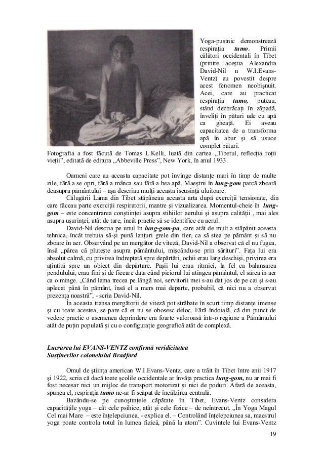 Yoga-pustnic demonstrează respiraţia tumo. Primii călători occidentali în Tibet (printre aceştia Alexandra David-Nil n W.I...