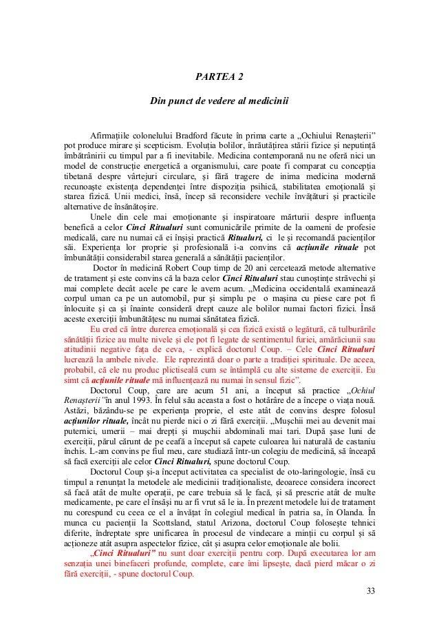 """PARTEA 2 Din punct de vedere al medicinii Afirmaţiile colonelului Bradford făcute în prima carte a """"Ochiului Renaşterii"""" p..."""