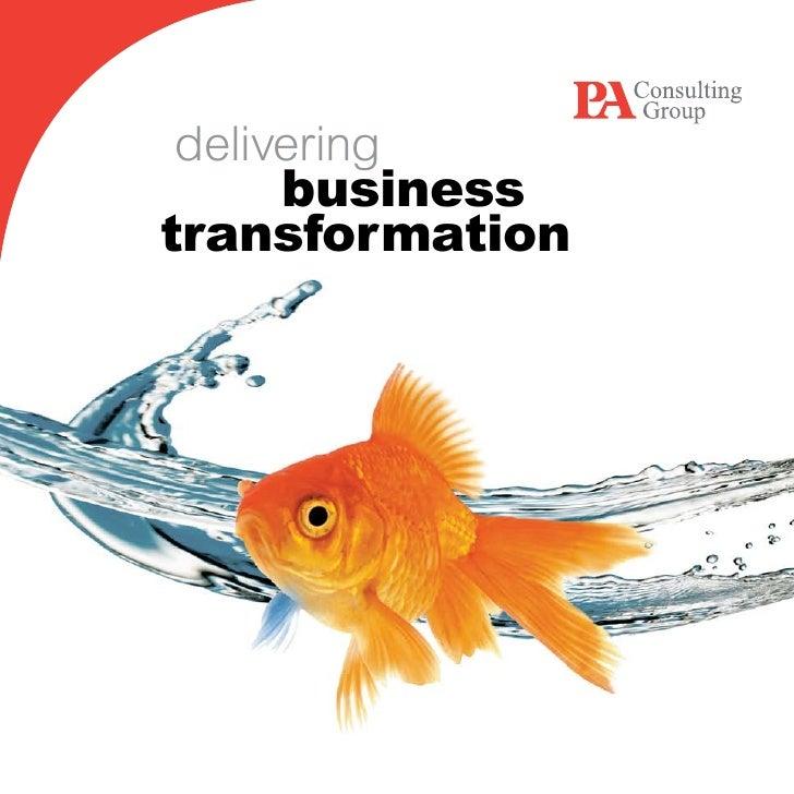 delivering     business transformation