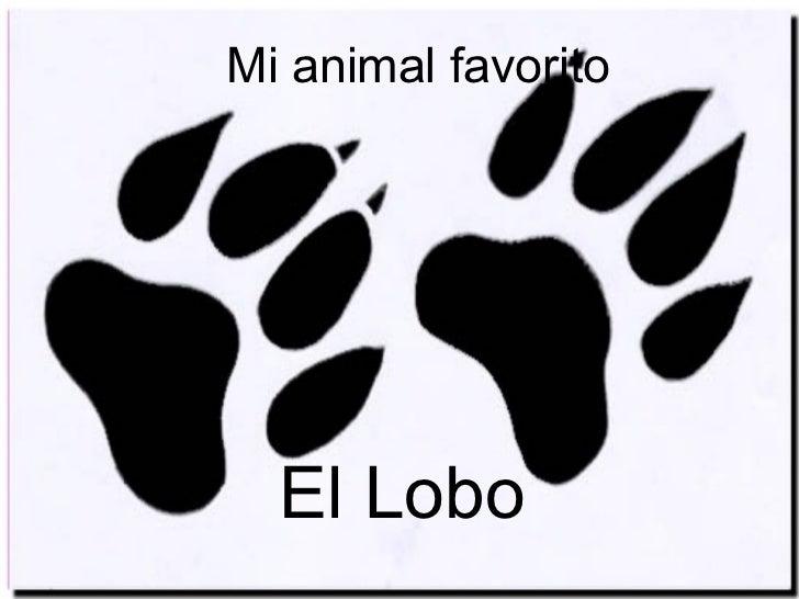 Mi animal favorito El Lobo
