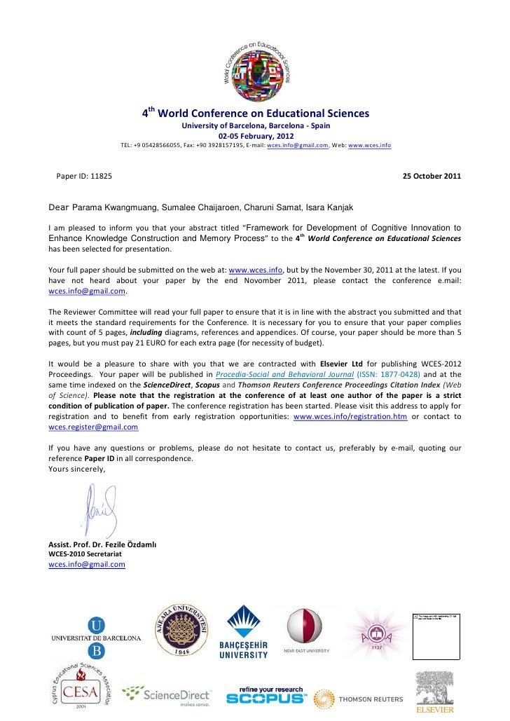 4th World Conference on Educational Sciences                                         University of Barcelona, Barcelona - ...