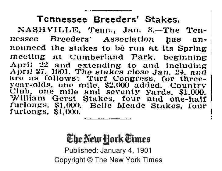Published: January 4, 1901 Copyright © The New York Times