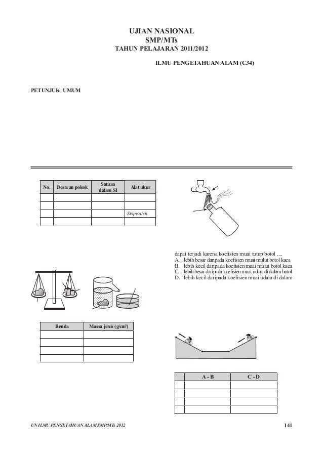 118540231 Pembahasan Soal Un Ipa Smp Paket C34 Pdf