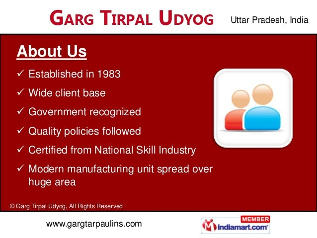 Uttar Pradesh, India  About Us   Established in 1980   Wide client base   Government recognized   Quality policies fol...
