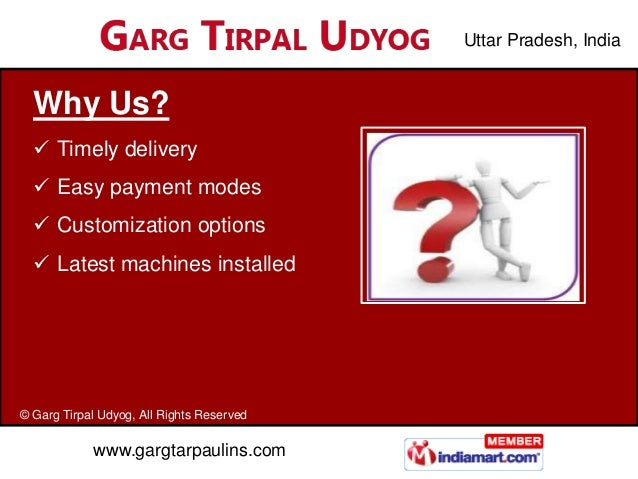 Uttar Pradesh, India  Why Us?   Timely delivery   Easy payment modes   Customization options   Latest machines install...