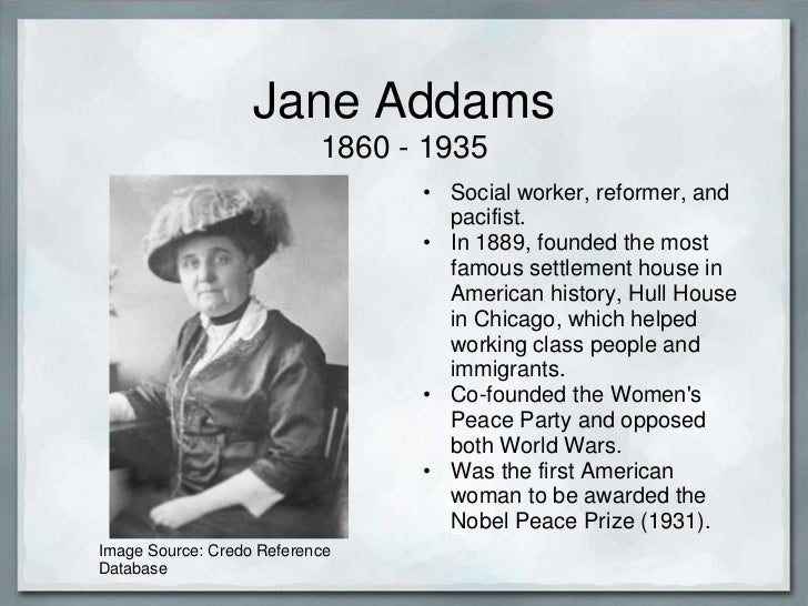 jane addams and her impact society But assertively extends the notion to the community and society jane addams was an john addams when jane was two years old, her to the impact of context.