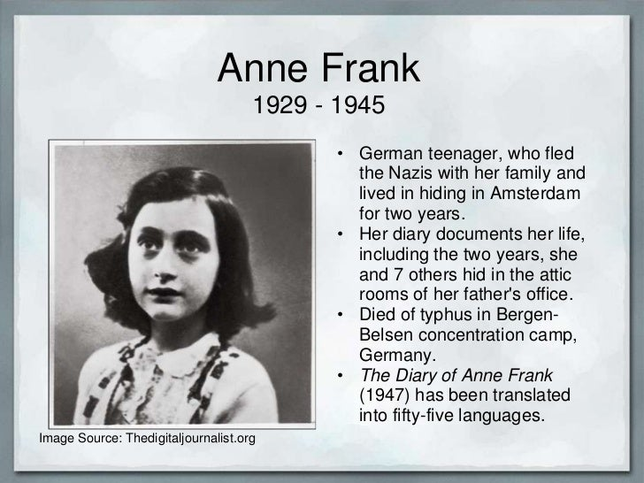 a biography of the life and times of anne frank from germany Anne frank: facts and information following the elections in germany of 1933, which were won by anne franks life is so touching in so many different ways she inspires me more than anything because she survived through most of the holocast and had top go with her mother.