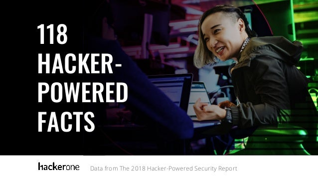 Data from The 2018 Hacker-Powered Security Report 118 HACKER- POWERED FACTS