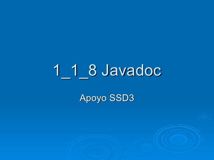 1 1 8 Javadoc