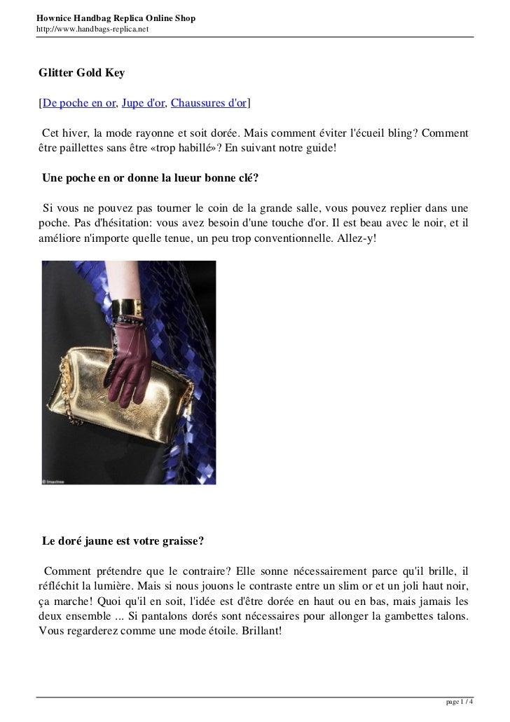 Hownice Handbag Replica Online Shophttp://www.handbags-replica.netGlitter Gold Key[De poche en or, Jupe dor, Chaussures do...