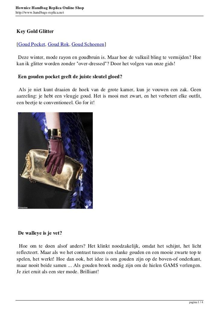 Hownice Handbag Replica Online Shophttp://www.handbags-replica.netKey Gold Glitter[Goud Pocket, Goud Rok, Goud Schoenen] D...
