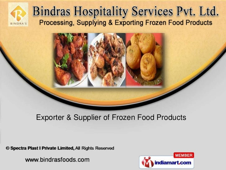 Exporter & Supplier of Frozen Food Products