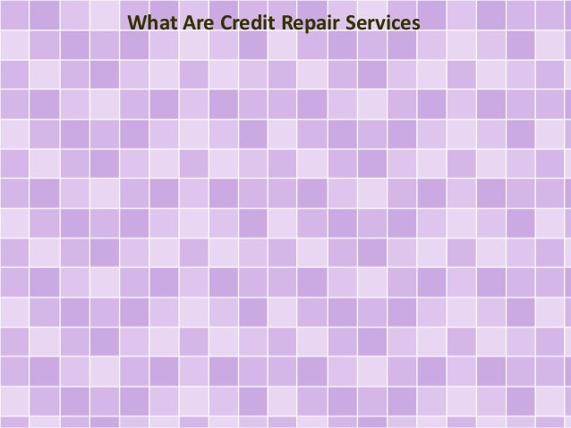 What Are Credit Repair Services