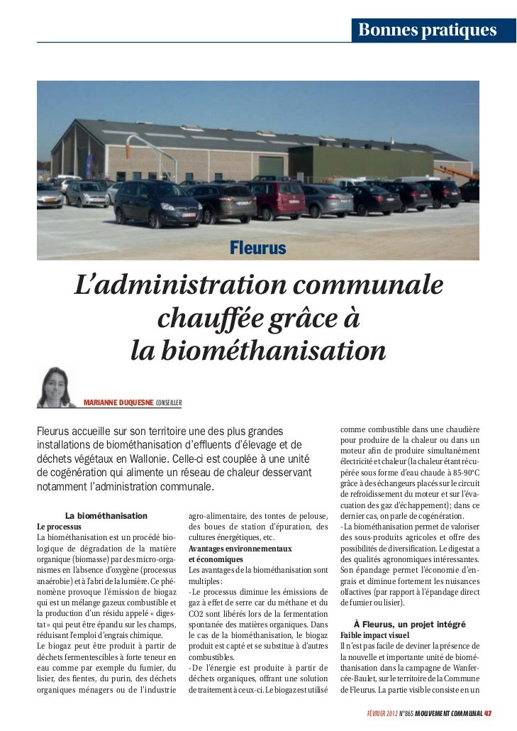 Bonnes pratiques                                                             Fleurus           L'administration communale ...