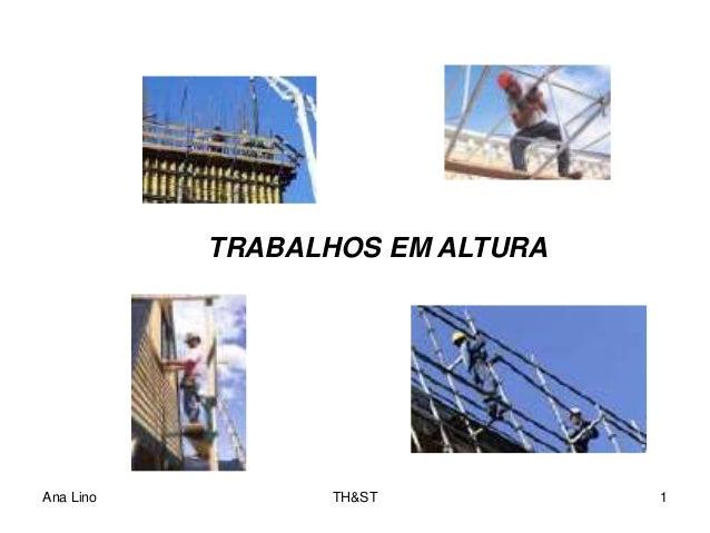 Ana Lino TH&ST 1 TRABALHOS EM ALTURA