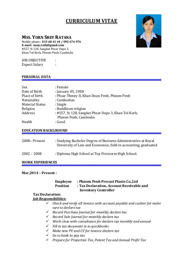 How to write a resume for a fresher