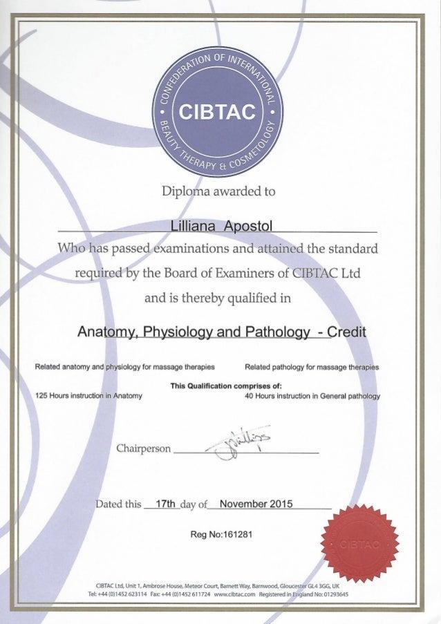 CIBTAC - Ananoty, Physiology & Pathology