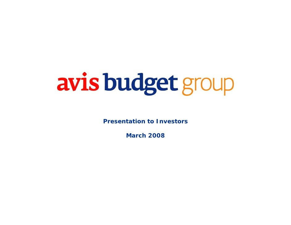 Presentation to Investors        March 2008