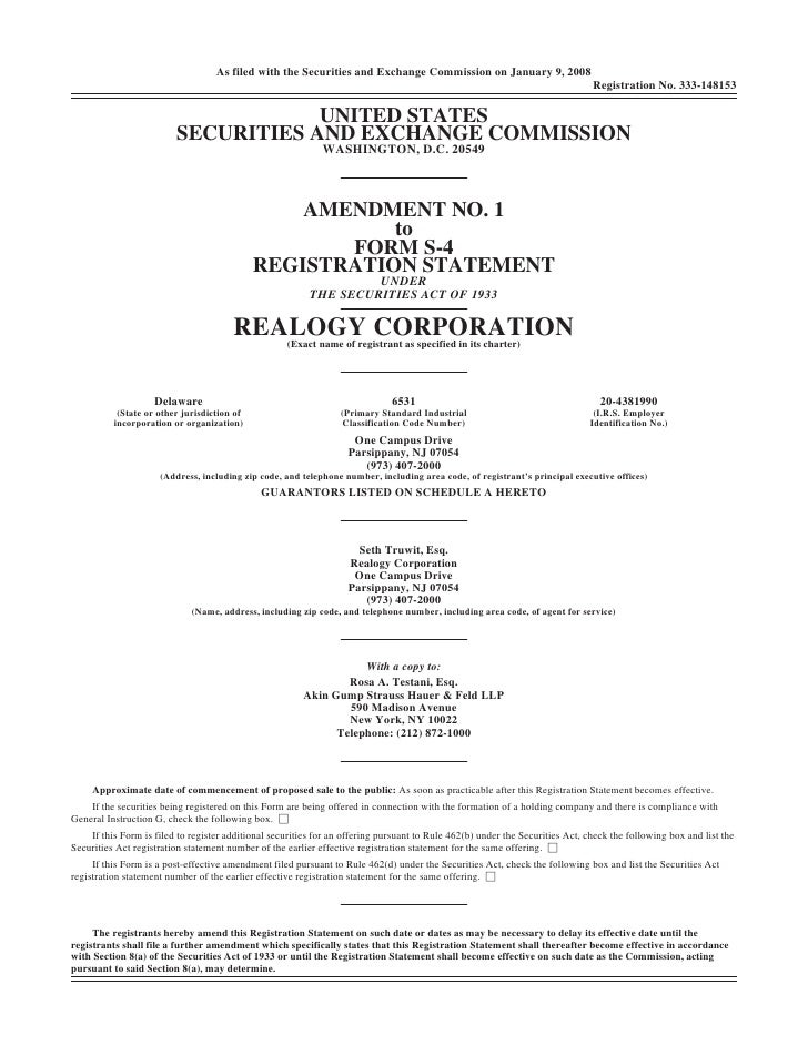 As filed with the Securities and Exchange Commission on January 9, 2008                                                   ...