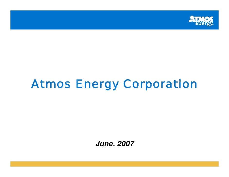Atmos Energy Corporation              June, 2007